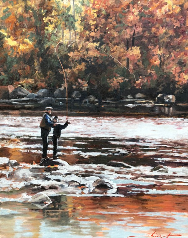 Fly Fishing by Sharon Rusch Shaver