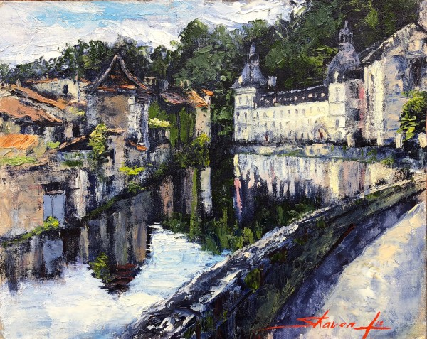 Brantome, France by Sharon Rusch Shaver