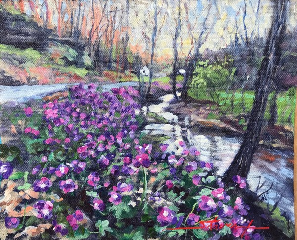 Spring Purple Sketch by Sharon Rusch Shaver