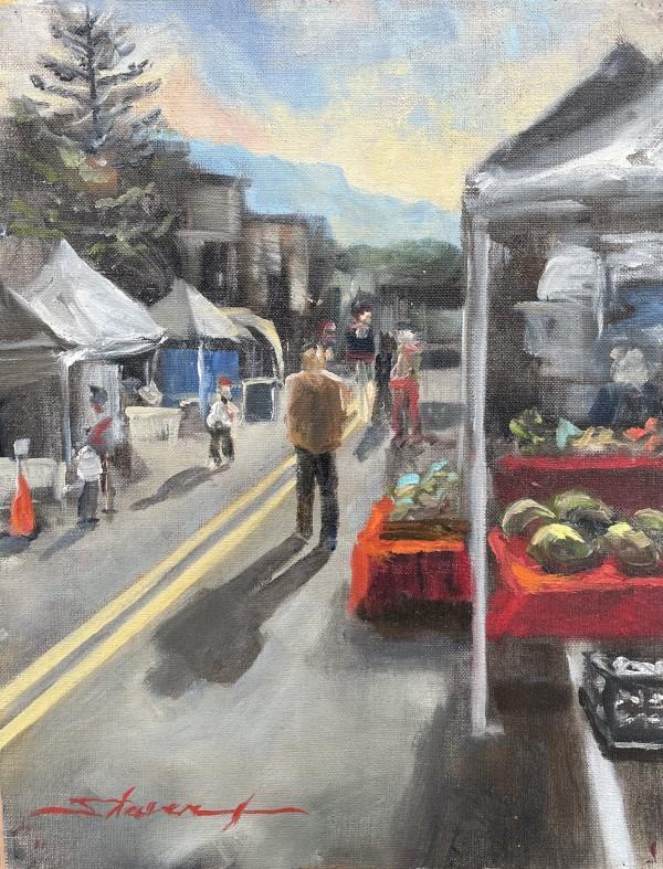 """Plein Yampa Market"" by Sharon Rusch Shaver"