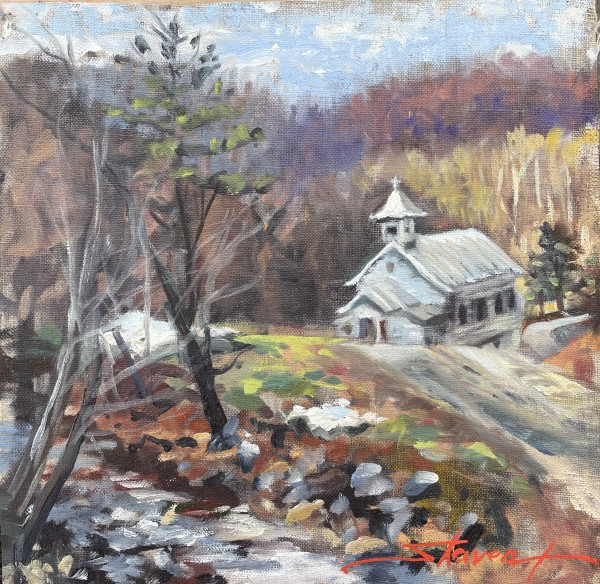 Plein WV Church by Sharon Rusch Shaver