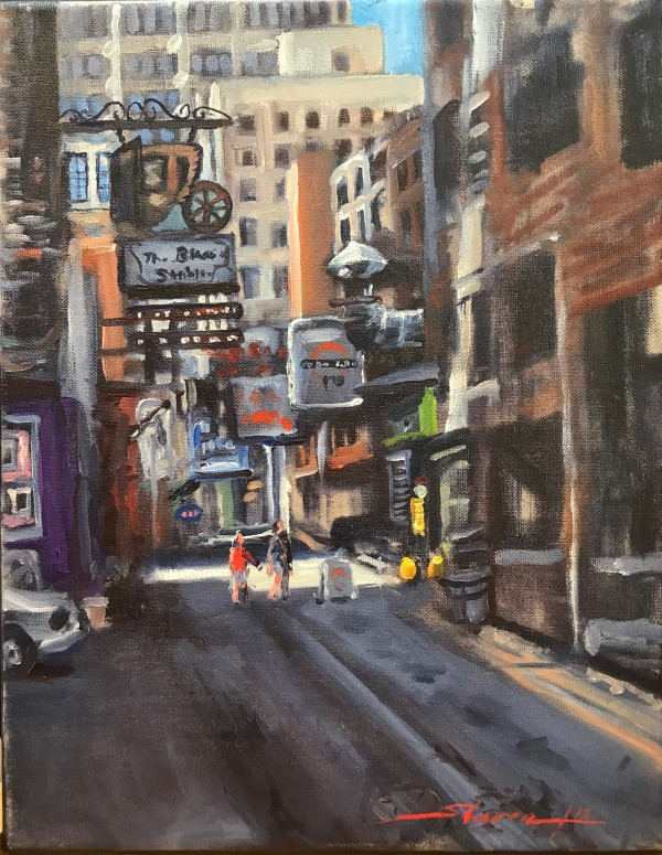 Printers Alley by Sharon Rusch Shaver