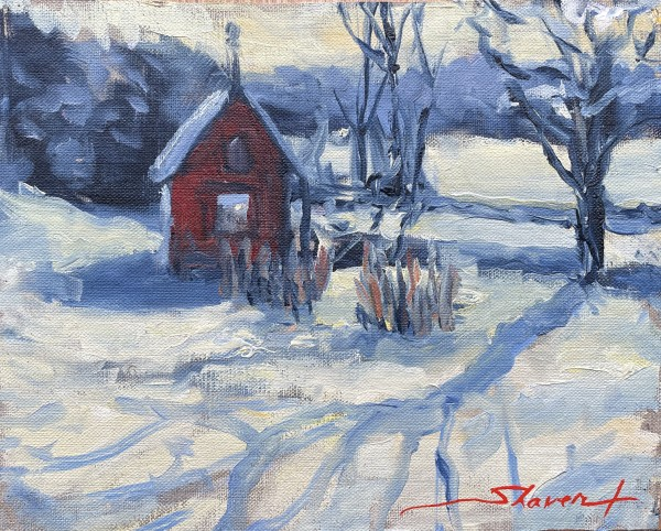 Plein First Snow by Sharon Rusch Shaver