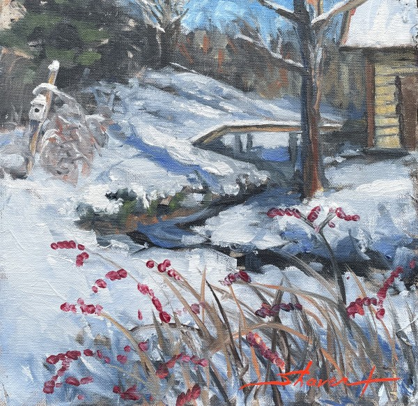 Plein Snow Bridge by Sharon Rusch Shaver
