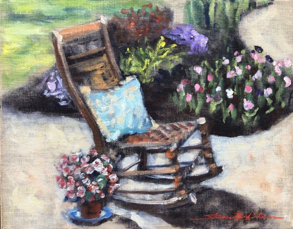 Garden Chair by Sharon Rusch Shaver