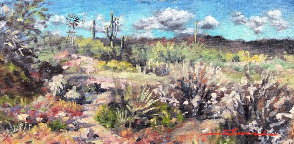Plein Scottsdale Wash by Sharon Rusch Shaver