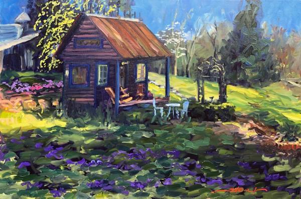 Plein Violet Spring by Sharon Rusch Shaver