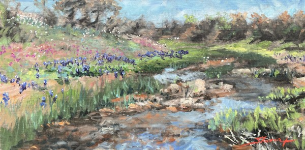 Plein Texas Hill Country by Sharon Rusch Shaver