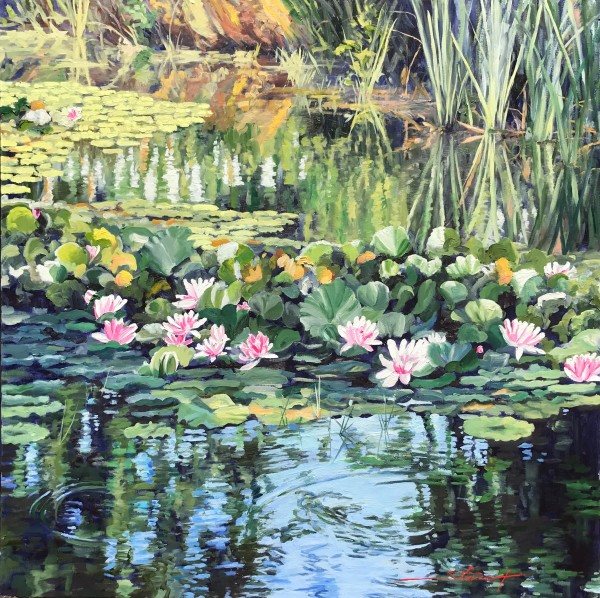 Water Lillies by Sharon Rusch Shaver