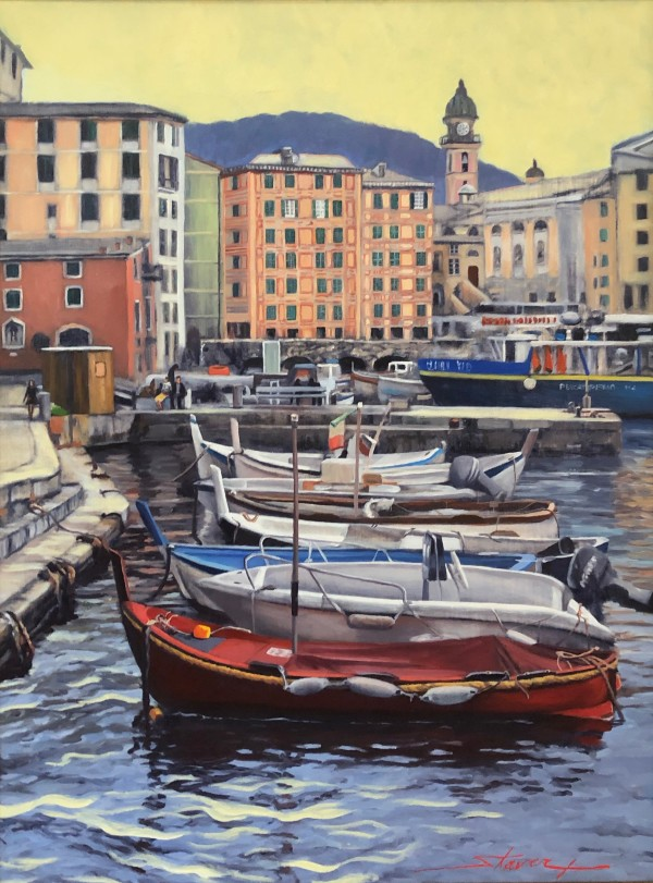 Cinque Terre Boats by Sharon Rusch Shaver