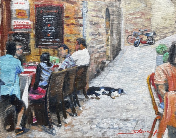 Lazy French Pup by Sharon Rusch Shaver