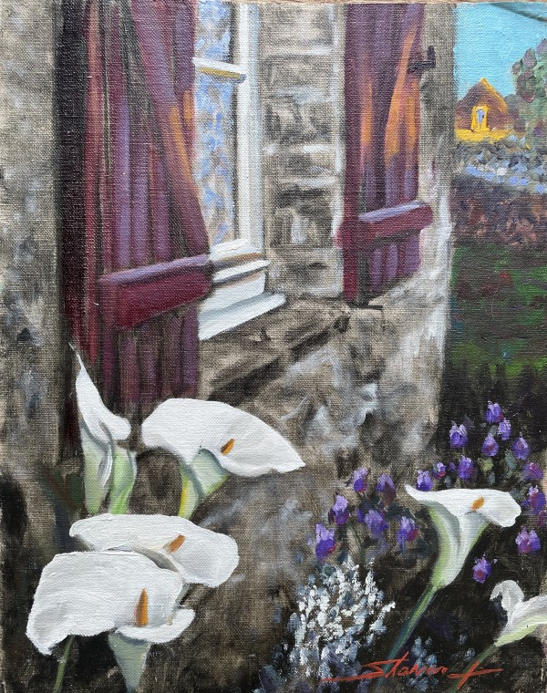 Lilies in France by Sharon Rusch Shaver