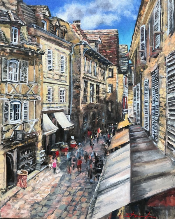 Plein Sarlat Large by Sharon Rusch Shaver