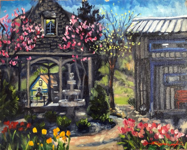 Plein Spring Day by Sharon Rusch Shaver