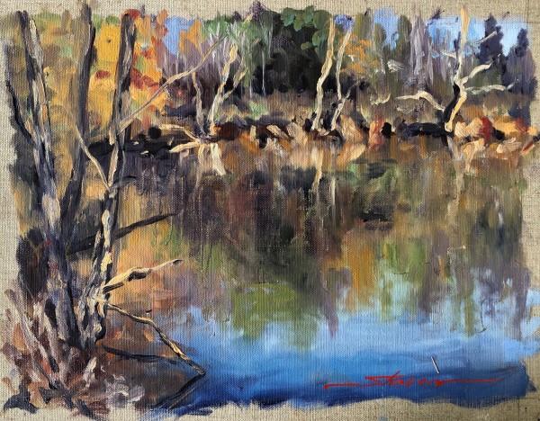 Plein  Fall Lake by Sharon Rusch Shaver
