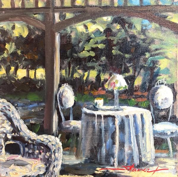 Plein Sharon's Porch by Sharon Rusch Shaver