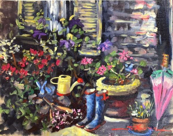 Plein Spring Greenhouse by Sharon Rusch Shaver