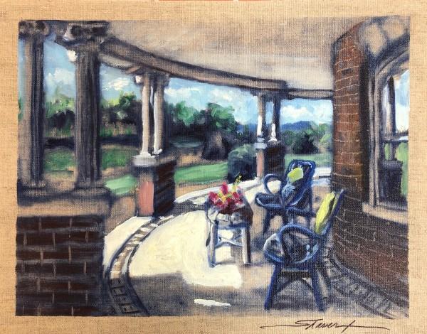 Plein Rosalind's Porch by Sharon Rusch Shaver
