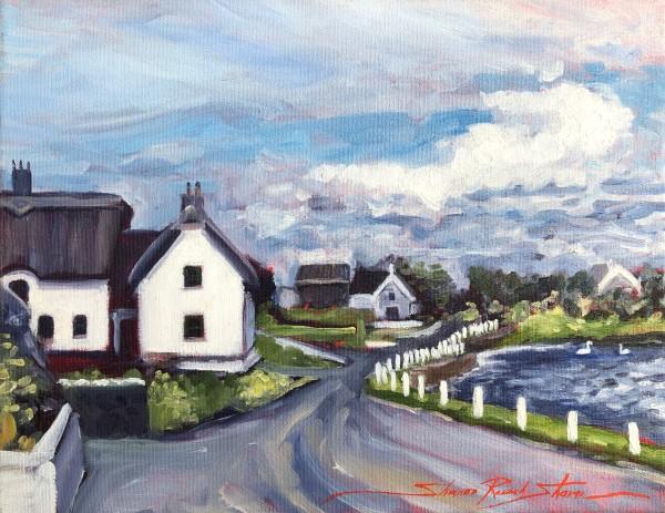 Plein Ireland Moran's by Sharon Rusch Shaver