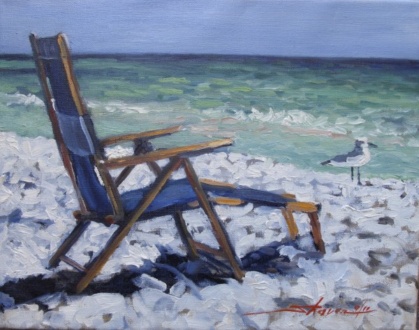 At the Beach by Sharon Rusch Shaver