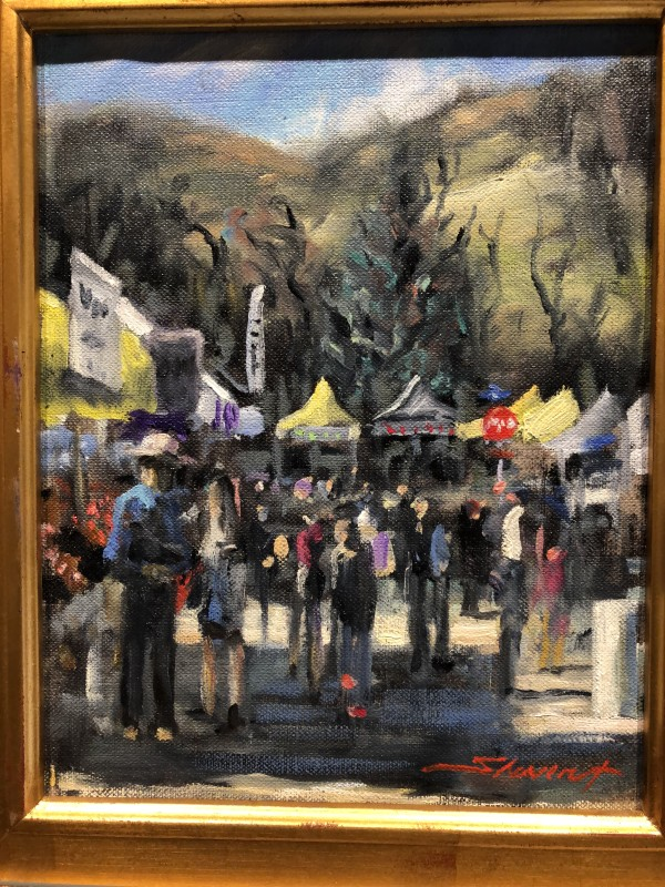 Plein Final Market Day by Sharon Rusch Shaver