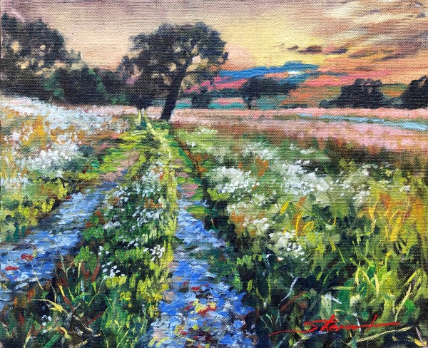 Late Summer Sketch by Sharon Rusch Shaver