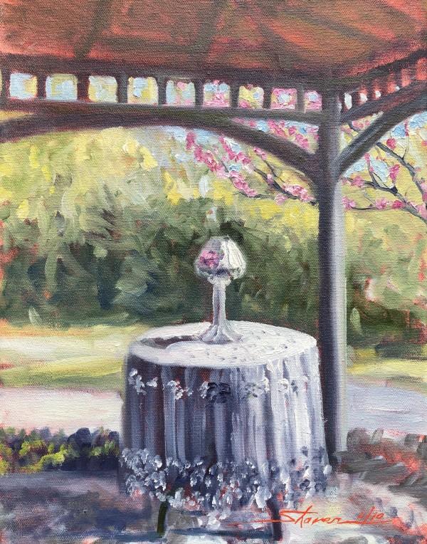 Plein First of Porch by Sharon Rusch Shaver