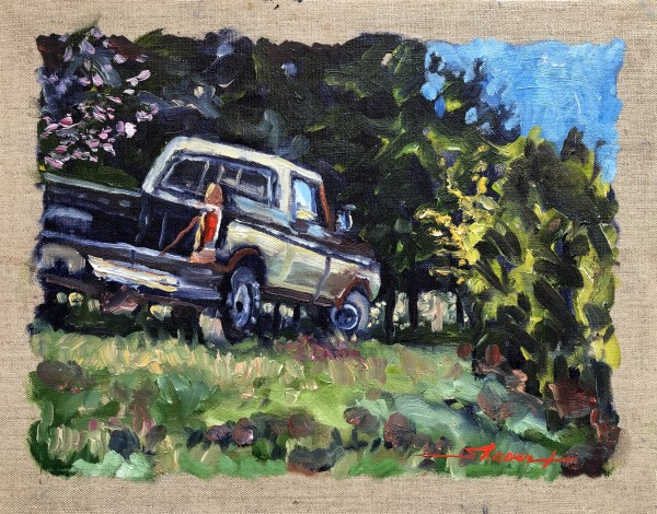 Plein 76 Ford by Sharon Rusch Shaver