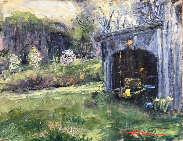 Plein Shed by Sharon Rusch Shaver