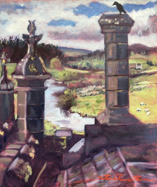 """Plein Castle View"" by Sharon Rusch Shaver"