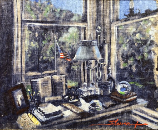 My Desk by Sharon Rusch Shaver