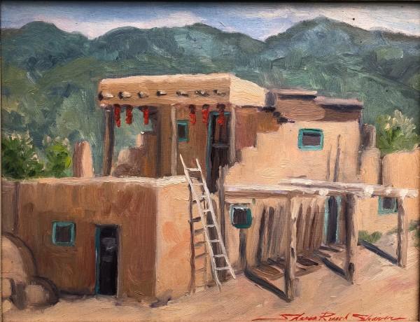 Plein Taos, NM by Sharon Rusch Shaver