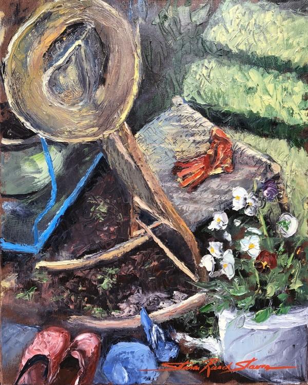 Plein Red Garden Gloves by Sharon Rusch Shaver