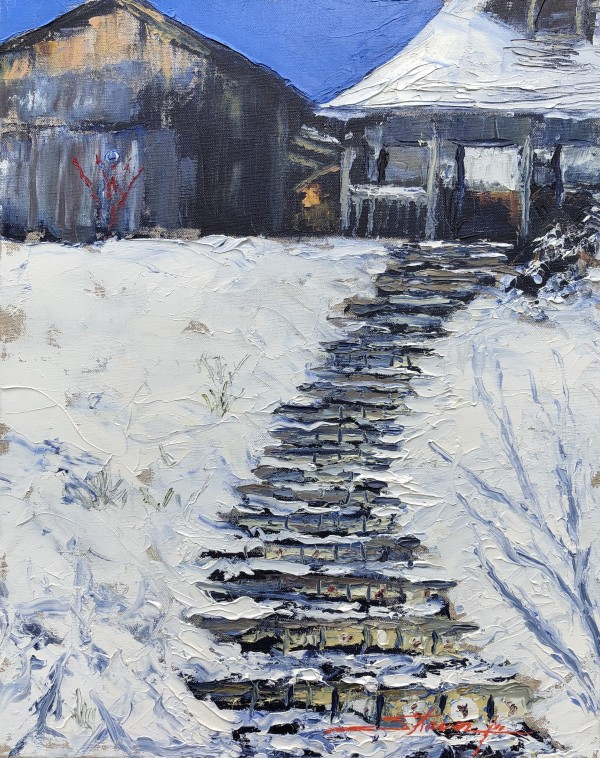 Winter Hill Stairs by Sharon Rusch Shaver