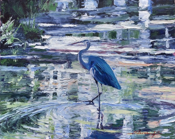 Knife Heron by Sharon Rusch Shaver