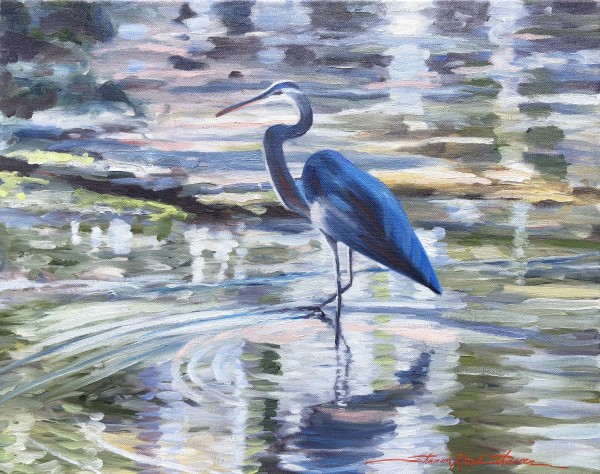 Blue Heron by Sharon Rusch Shaver
