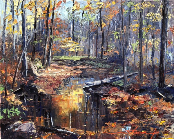 Fall Woods by Sharon Rusch Shaver