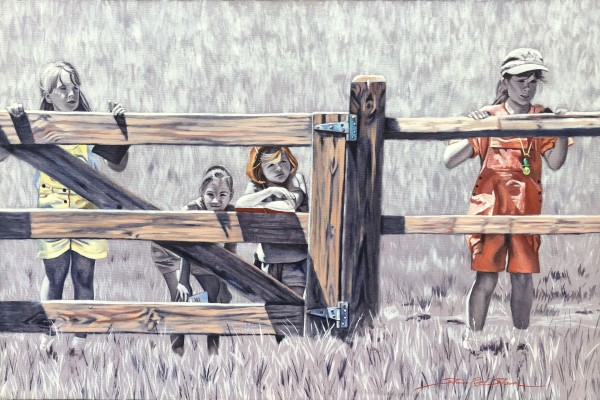 At the Fence by Sharon Rusch Shaver