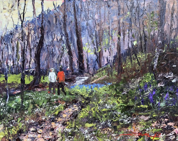 Spring Woods Walk by Sharon Rusch Shaver
