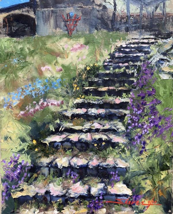 Garden Stairs by Sharon Rusch Shaver