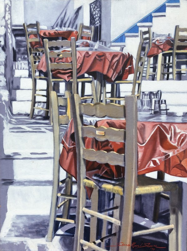 Grecian Tables by Sharon Rusch Shaver