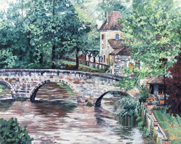 Brantome Bridge by Sharon Rusch Shaver