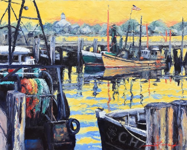 Provincetown Harbor by Sharon Rusch Shaver