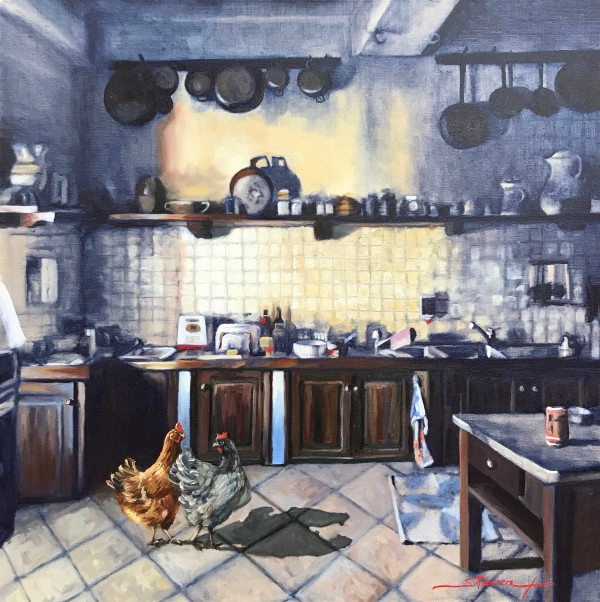 Chickens in the Kitchen by Sharon Rusch Shaver