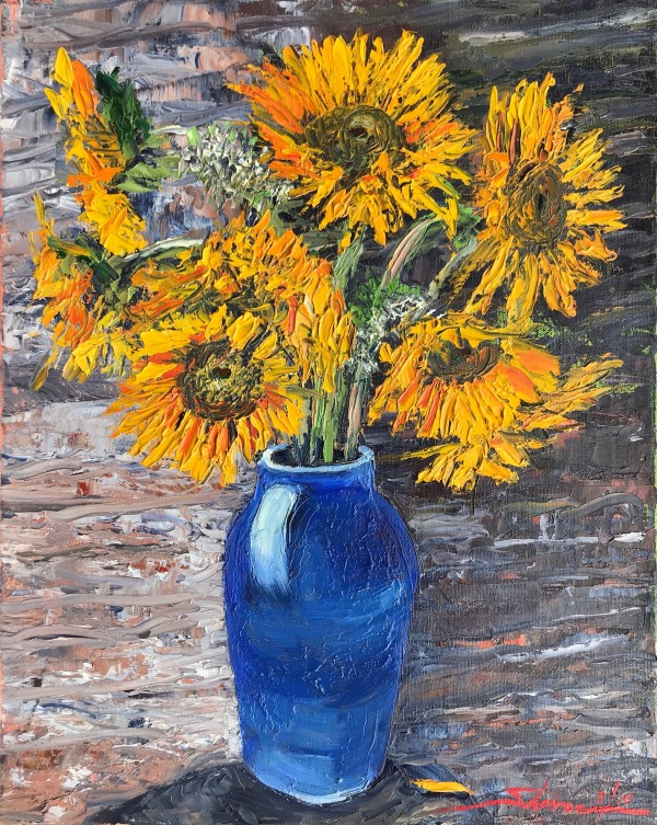 Vincent's Sunflowers by Sharon Rusch Shaver