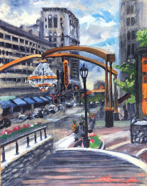 Cleveland Ohio Plein Air by Sharon Rusch Shaver