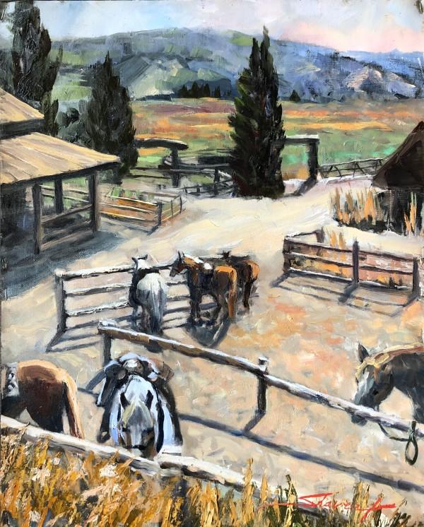 """""""Plein Vista Verde Ranch"""" by Sharon Rusch Shaver"""
