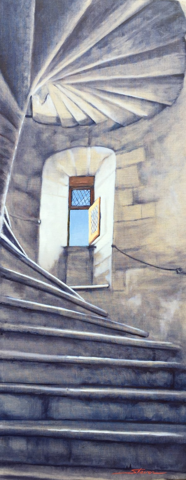 Stairway to the Chamber by Sharon Rusch Shaver