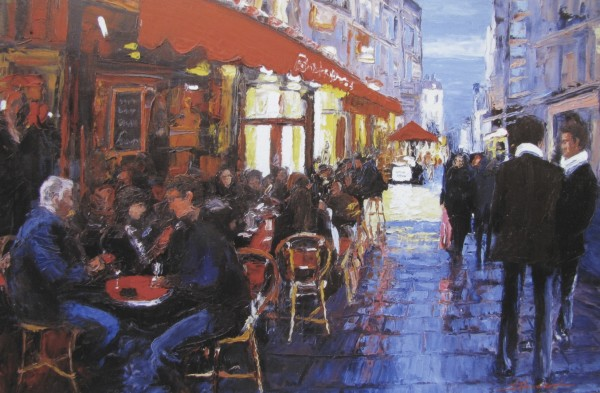 Nightime in Paris by Sharon Rusch Shaver