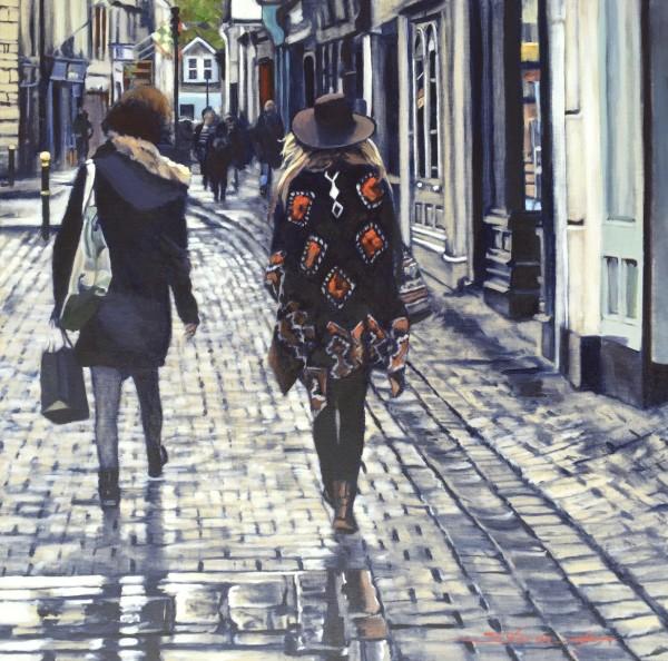Walking in Ennis by Sharon Rusch Shaver